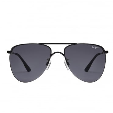The Prince Black Matte Aviator Sunglasses