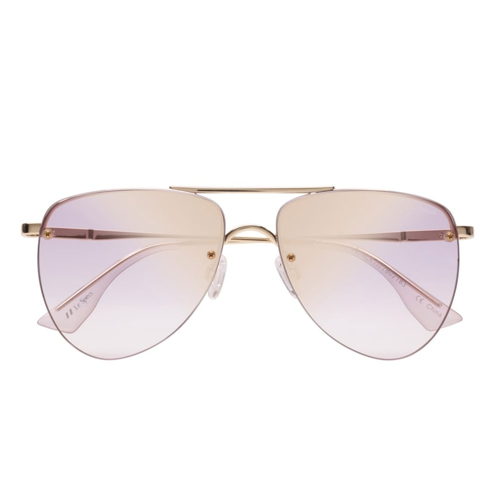 888d1843767 Le Specs The Prince Gold Lilac Aviator Sunglasses