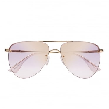 The Prince Gold Lilac Aviator Sunglasses