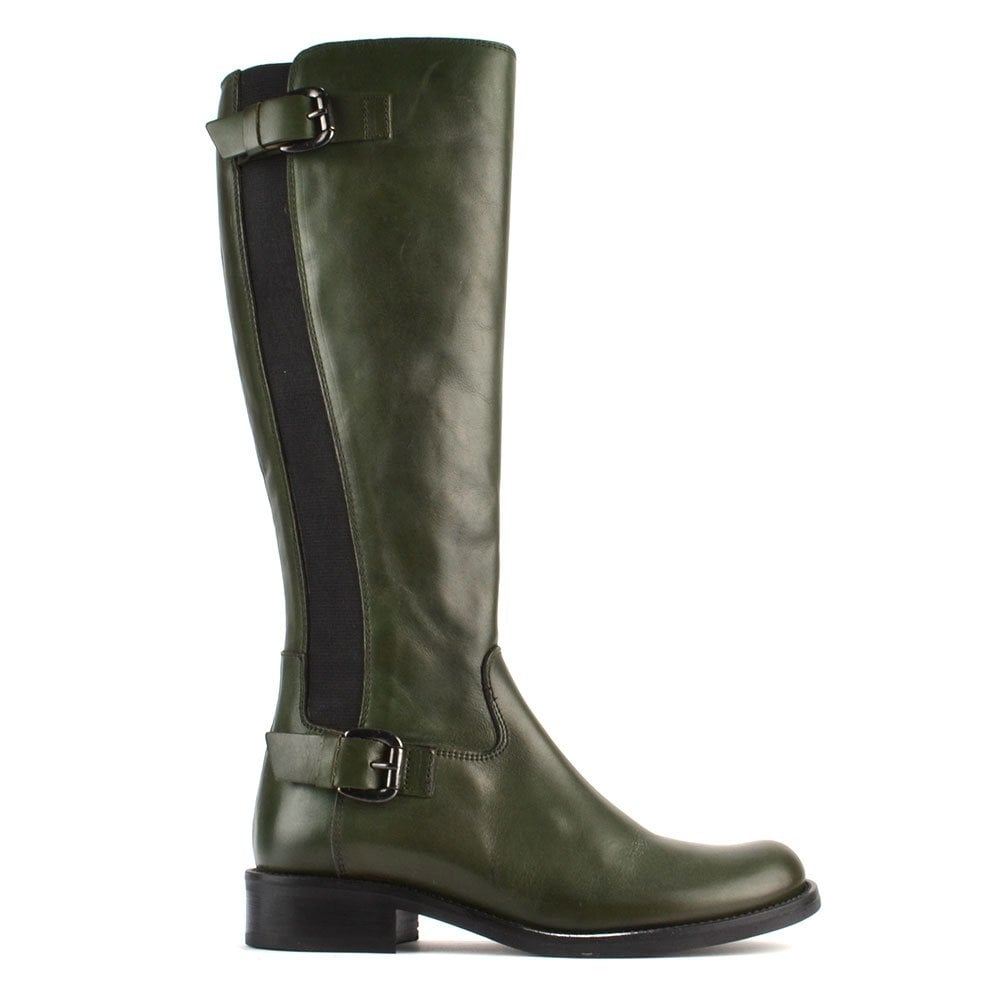 Mally Green Leather High Boot