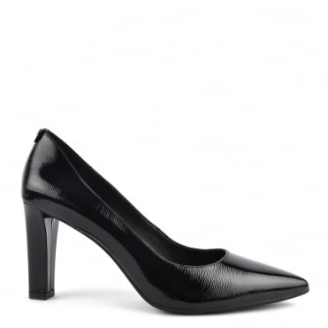 Abbi Flex Black Patent Textured Pump