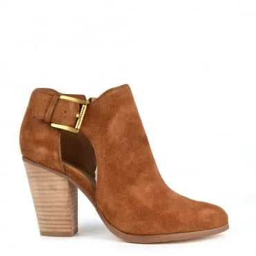 Adams Dark Caramel Suede Cut Out Boot