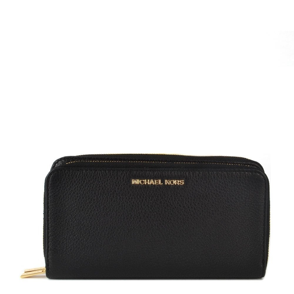 580e129ab956 MICHAEL by Michael Kors Adele Black Double Zip Wallet - Women from ...