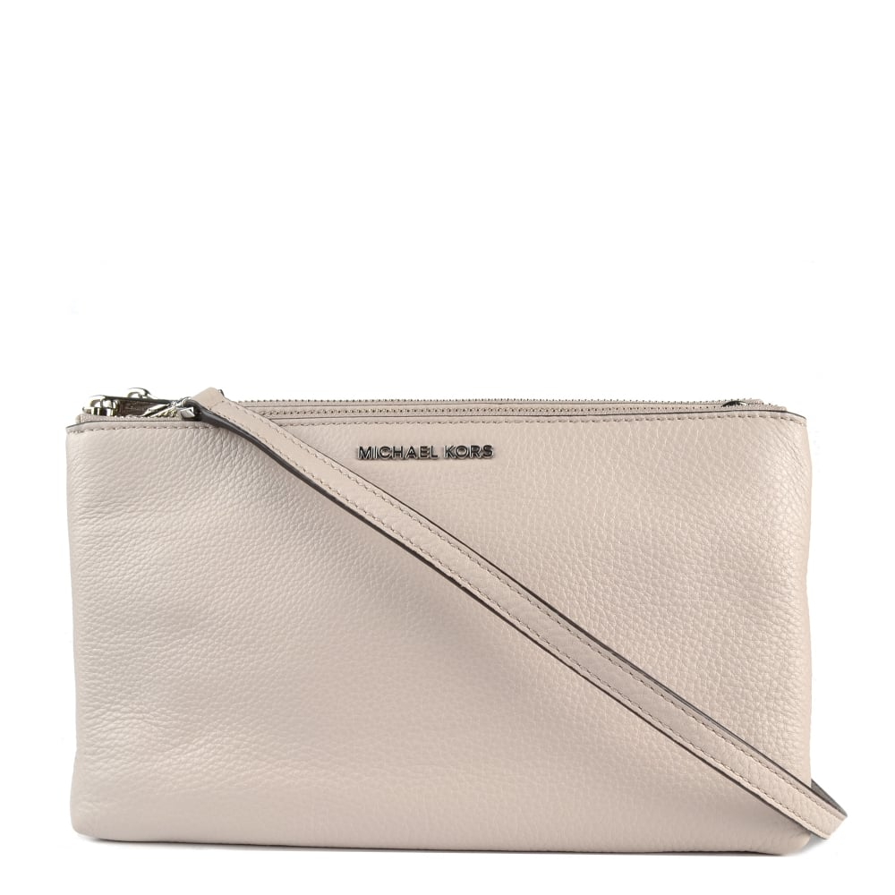 8f8fd426e4fb MICHAEL by Michael Kors Adele Cement Double Zip Crossbody Bag