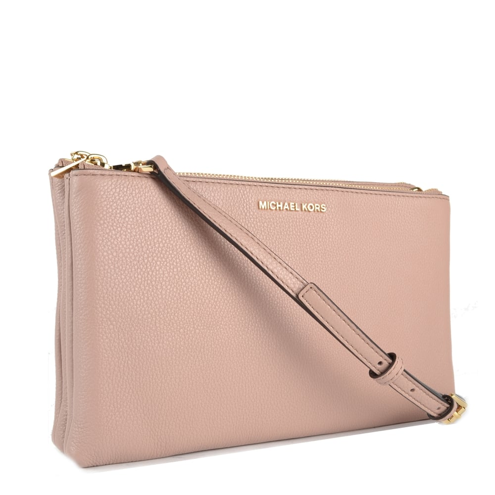 e18171b1c26df9 ... Double Zip Crossbody Bag · Adele Fawn 'Pink' Double ...