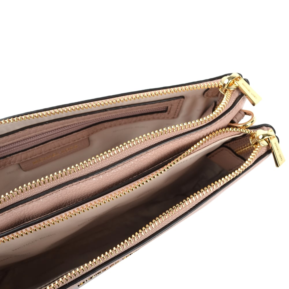 e82b8aab149b ... Double Zip Crossbody Bag. Adele Fawn   039 Pink  039  Double ...