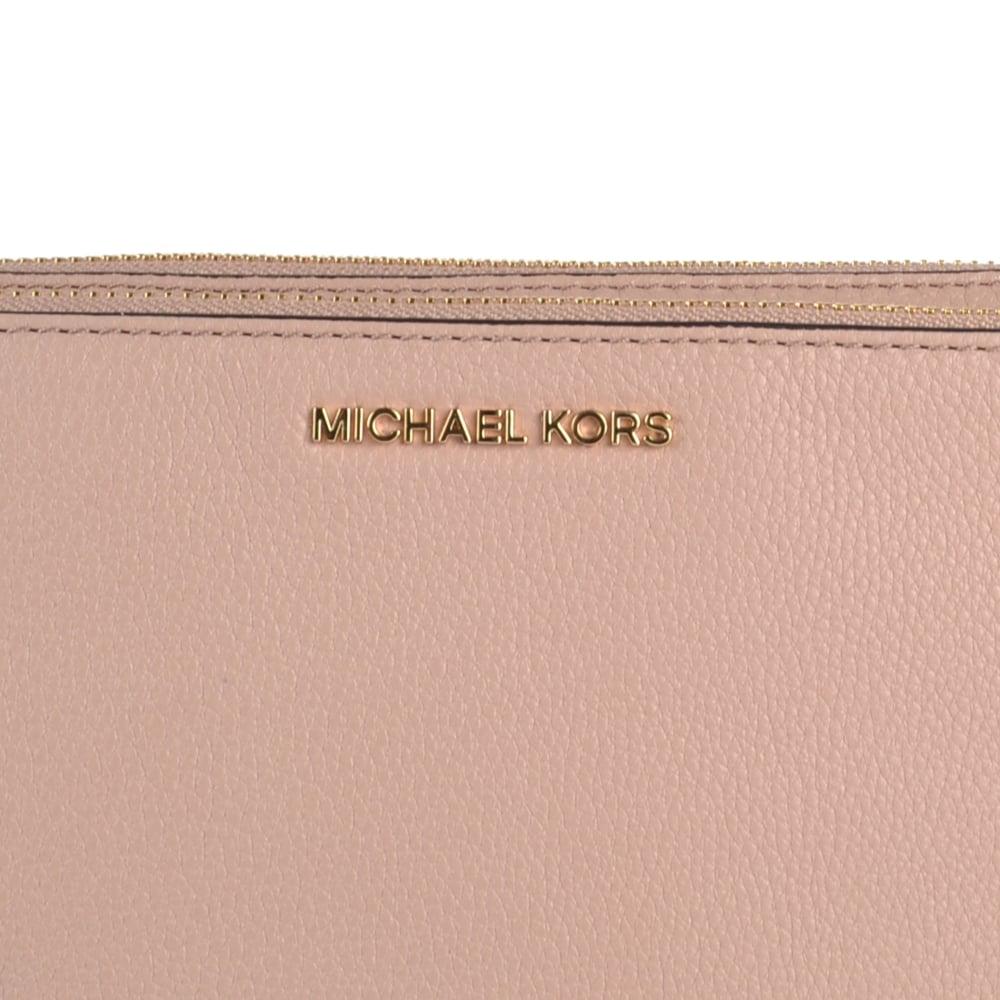 c8f686797b7b MICHAEL MICHAEL KORS Adele Fawn  Pink  Double Zip Crossbody Bag