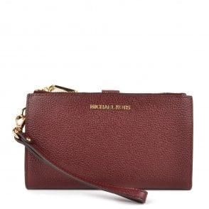 931255102b42 Adele Oxblood Leather Double Zip Wristlet · MICHAEL by Michael Kors ...
