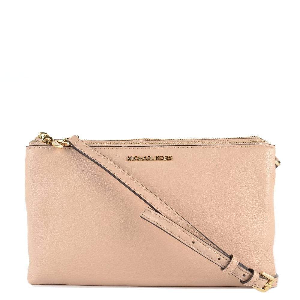 f2dd8659d8c1 MICHAEL by Michael Kors Adele Oyster Double Zip Crossbody Bag