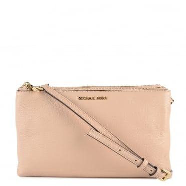 Adele Oyster Double Zip Crossbody Bag