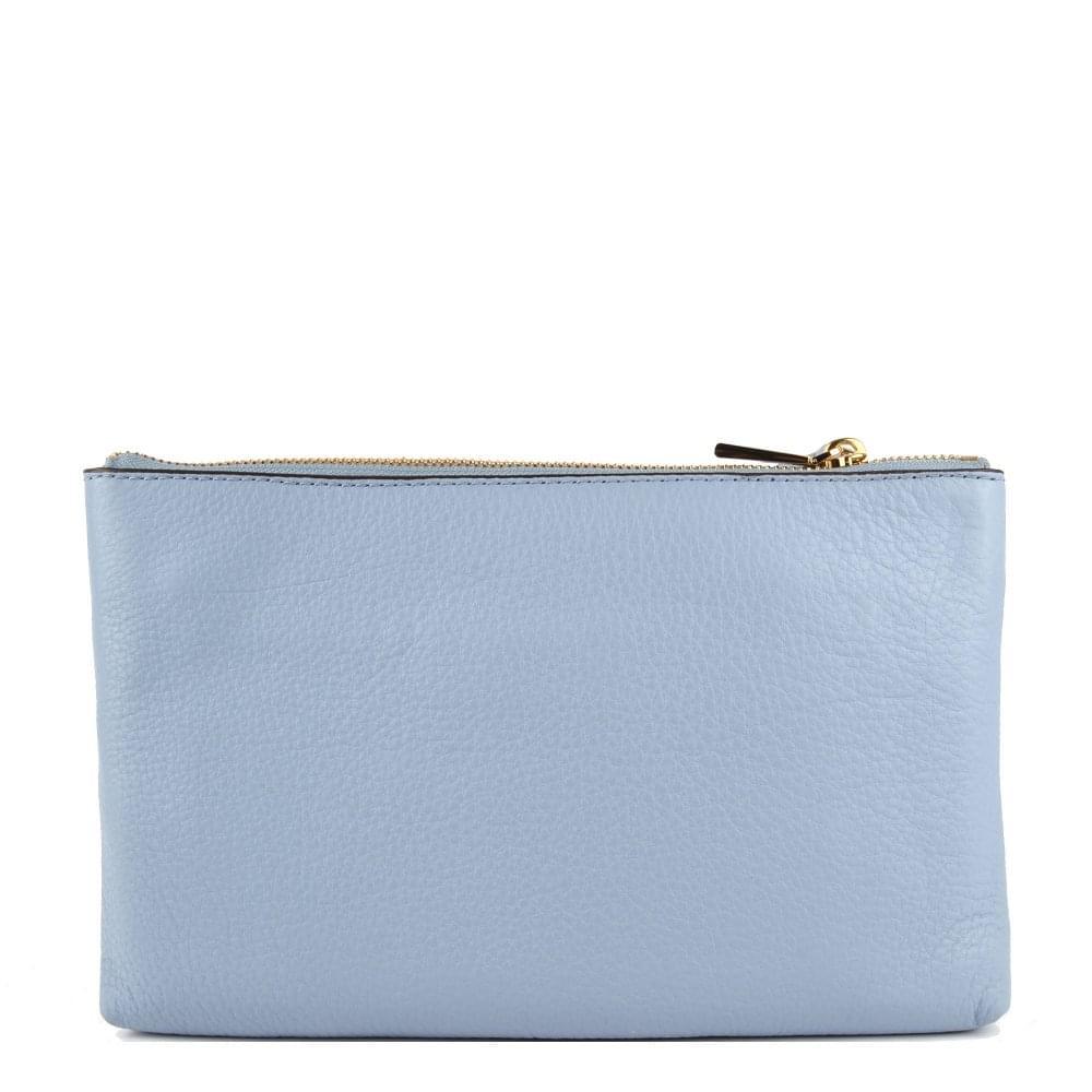 fc7c523f6c1 MICHAEL MICHAEL KORS Adele Pale Blue Leather Double Zip Crossbody Bag