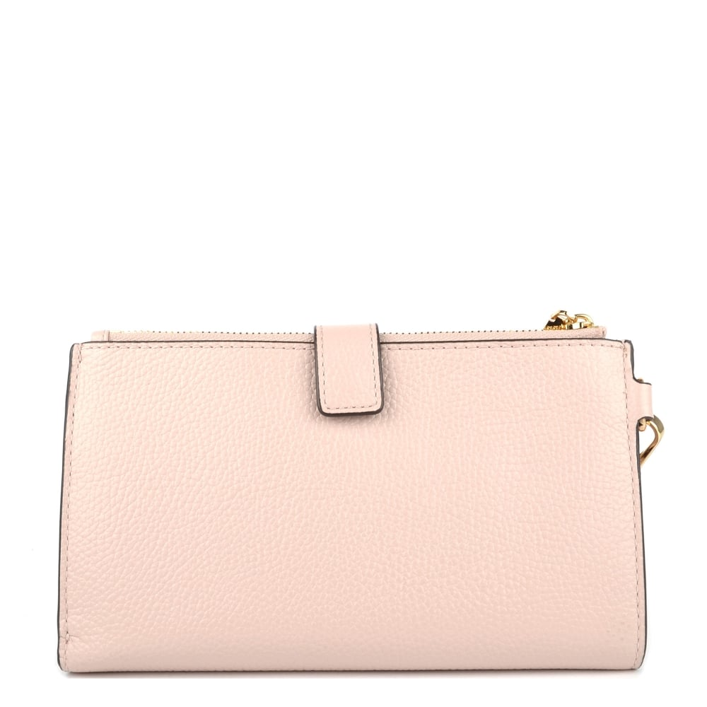 3ba2b79f1b91ce MICHAEL Michael Kors Adele Soft Pink Leather Double Zip Wristlet