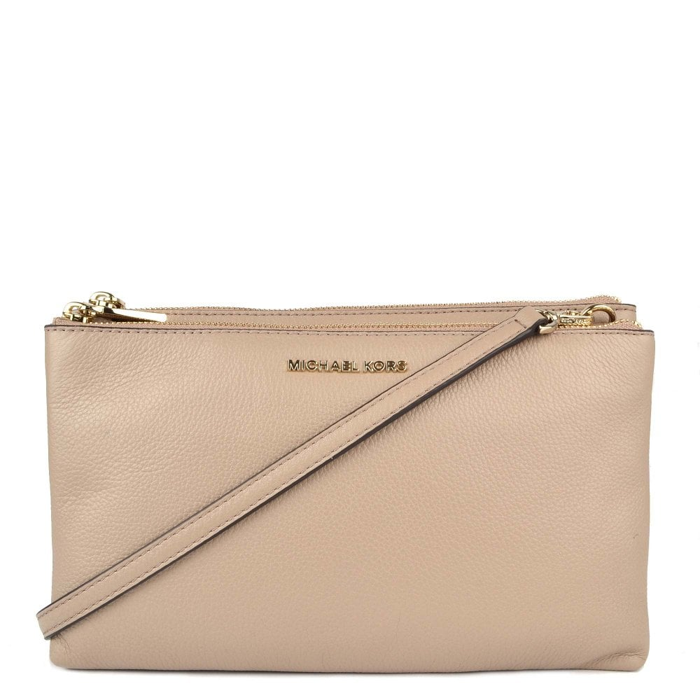 6eced8ec3c8a MICHAEL by Michael Kors Adele Truffle Double Zip Crossbody Bag
