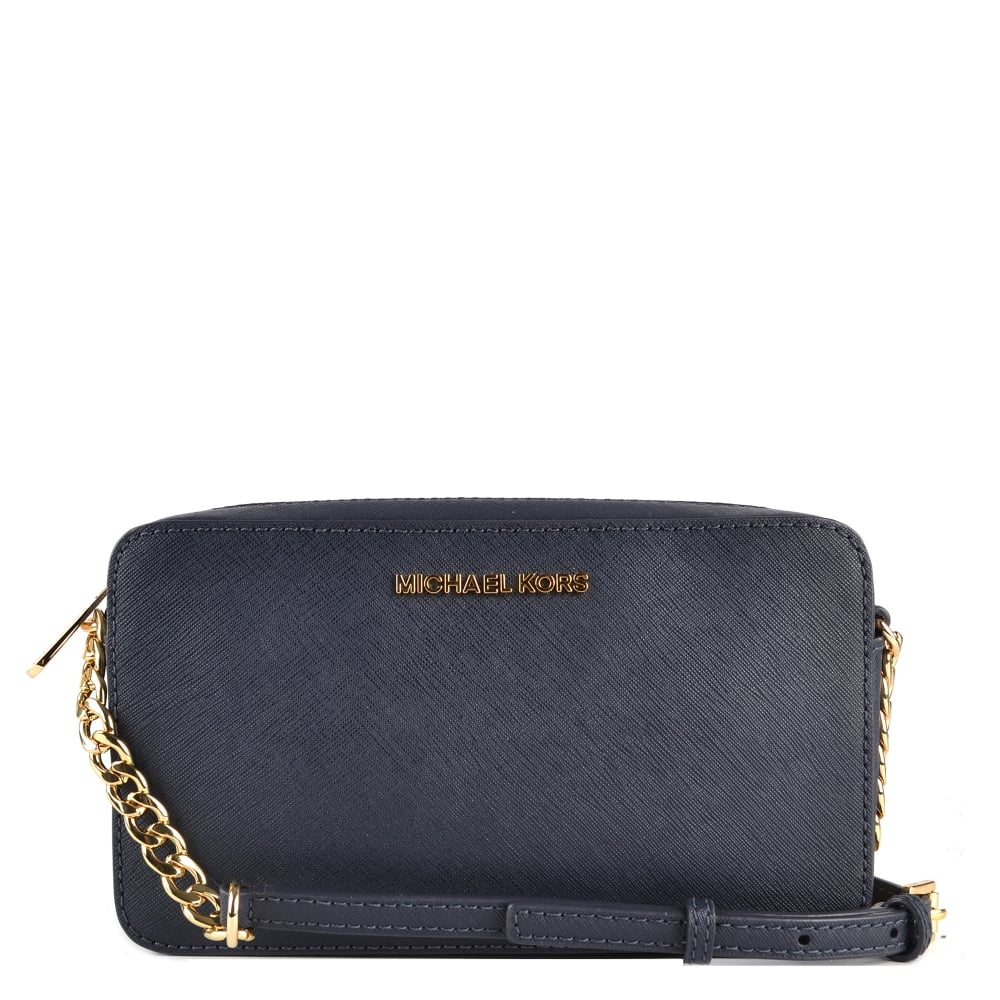 224bc7124909 MICHAEL by Michael Kors Admiral 'Navy' Medium Leather Crossbody Bag