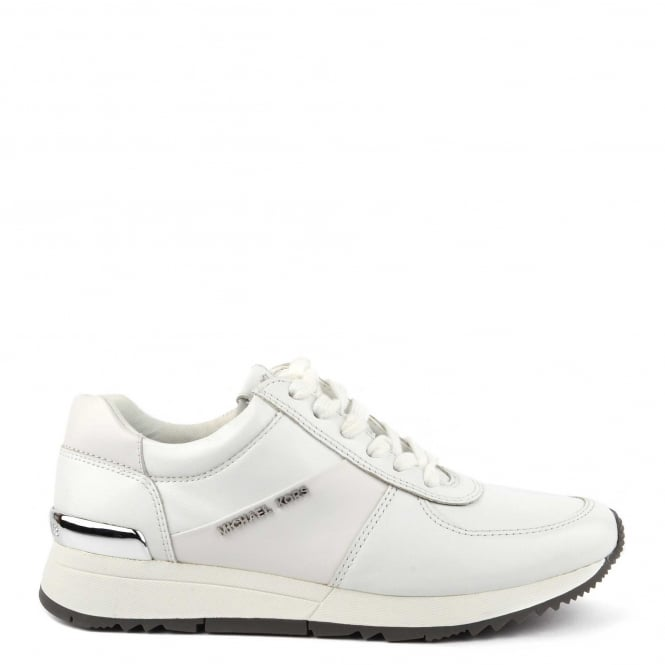 MICHAEL by Michael Kors Allie Optic White Leather Trainer