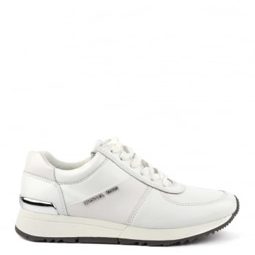 Allie Optic White Leather Trainer
