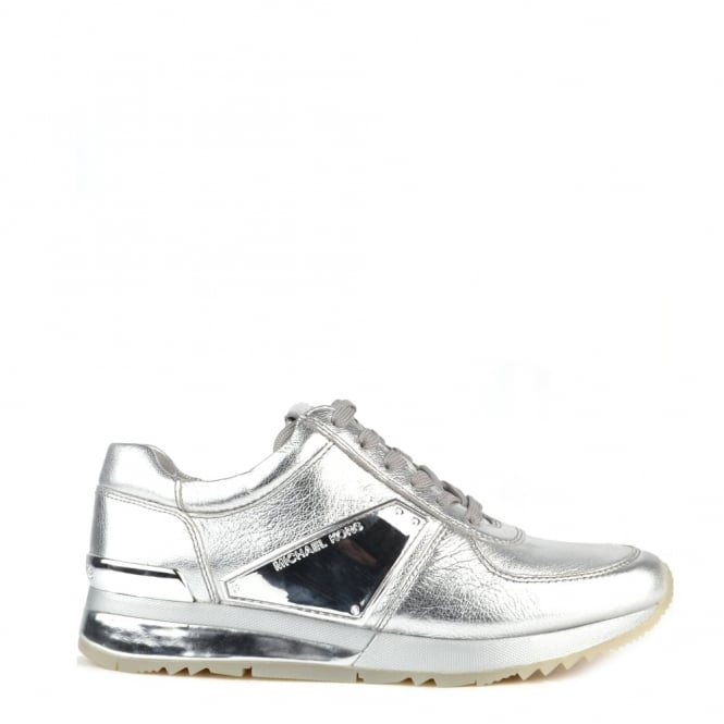 MICHAEL by Michael Kors Allie Plate Wrap Silver Trainer