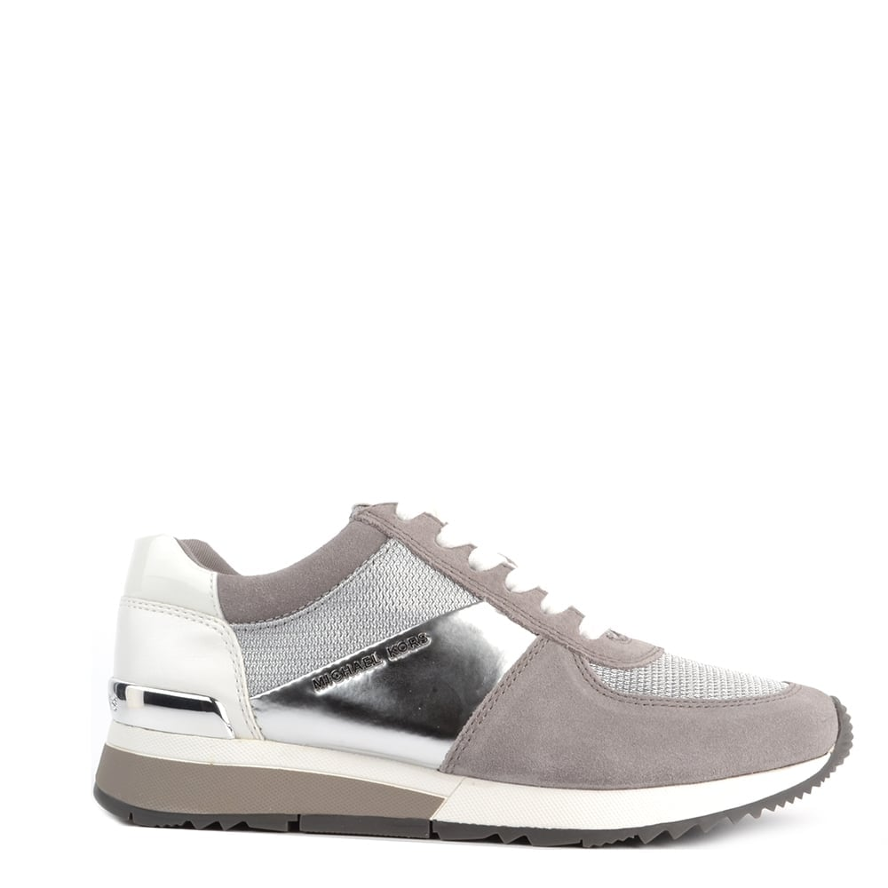 9362e6097d8d2 MICHAEL by Michael Kors Allie Silver and Pearl Grey Trainer