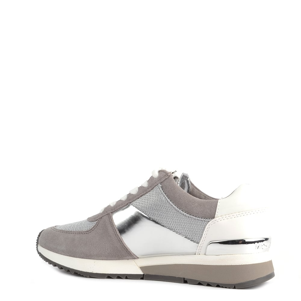 b8f149bf6869c MICHAEL Micahel Kors Allie Silver and Pearl Grey Trainer