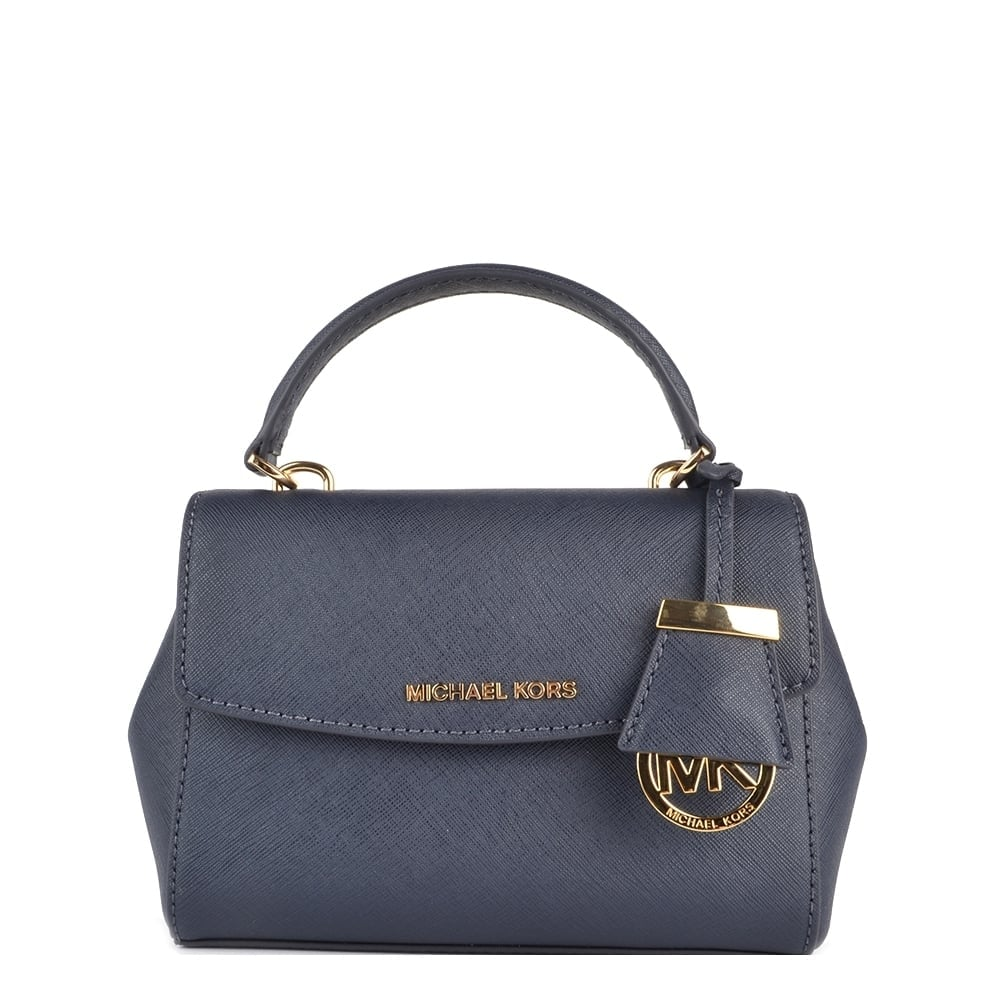 Michael Kors Ava Admiral Extra Small Crossbody Gold 039navy039