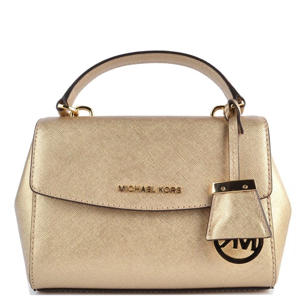 5a1d03c9acd5 MICHAEL by Michael Kors Ava Pale Gold Extra Small Crossbody