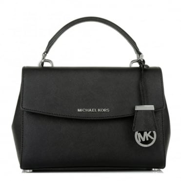Ava Small Black Satchel