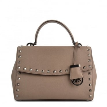 Ava Stud Dark Dune Small Satchel