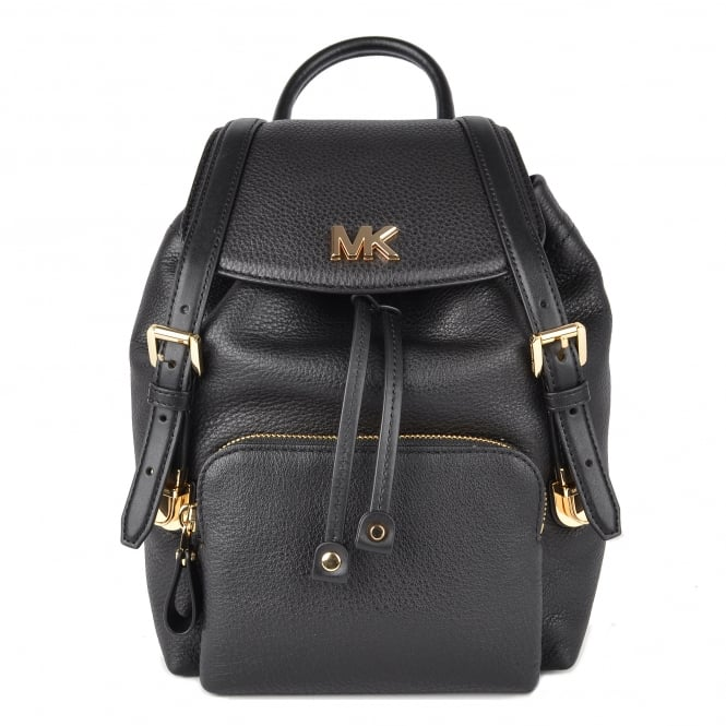 MICHAEL by Michael Kors Beacon Black Leather Small Backpack