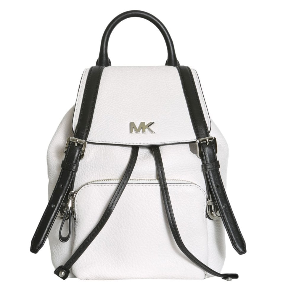 a03232e3db28 MICHAEL by Michael Kors Beacon Optic White and Black Small Backpack