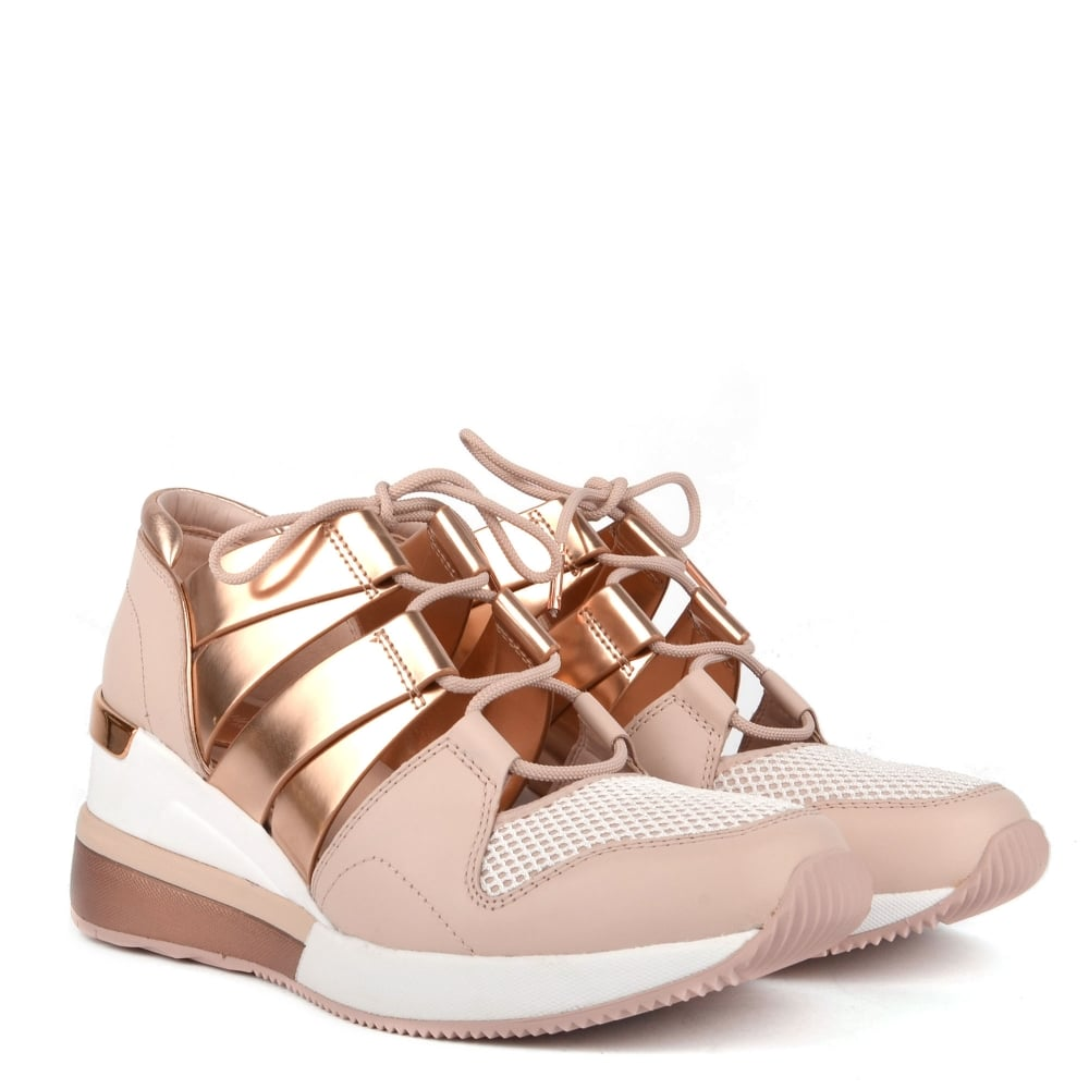 MICHAEL Michael Kors Beckett Soft Pink and Rose Gold Trainer 1ffb2d3dc