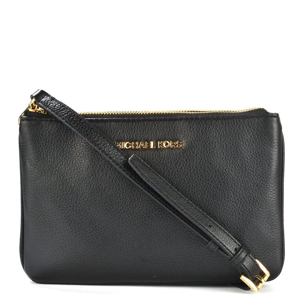 1cb105915c71 MICHAEL by Michael Kors Bedford Black Gusset Crossbody Bag