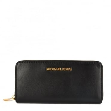 Bedford Black Leather Continental Wallet