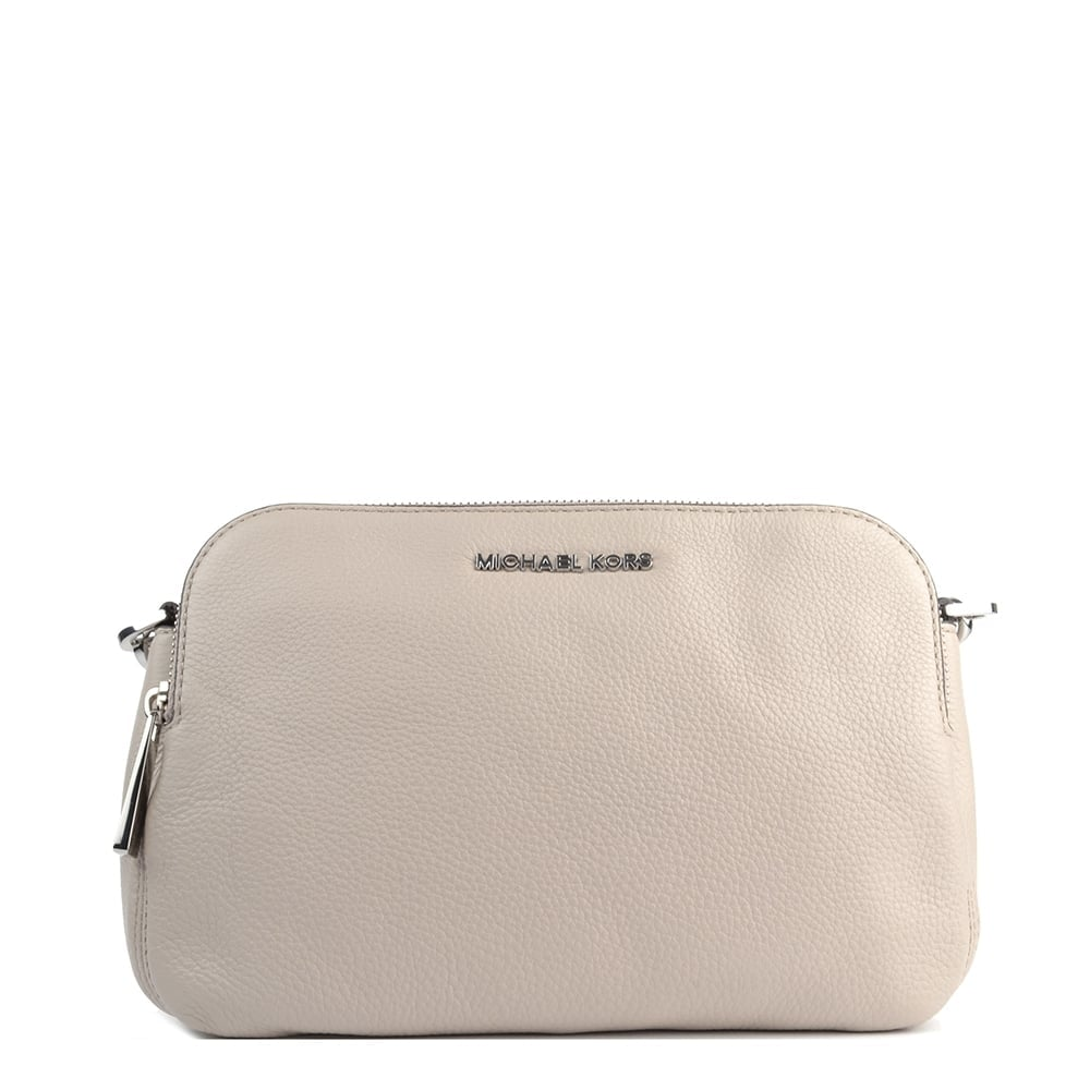 5cc2ee0909a0 MICHAEL by Michael Kors Bedford Cement 'Beige' Medium Double Zip Cross Body  Bag