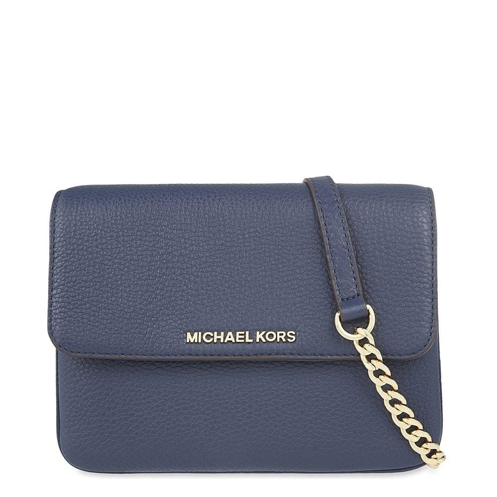 075b5df9fa86 MICHAEL by Michael Kors Bedford Navy Double Gusset Cross Body Bag