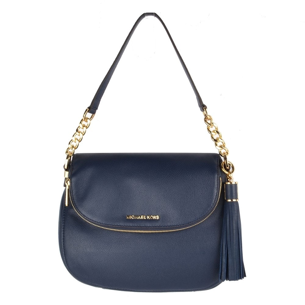 Bedford Navy Tassel Convertible Shoulder Bag