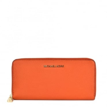 Bedford Orange Zip Around Continental Wallet