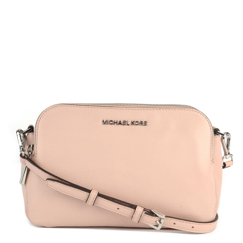 56406689f0b0 MICHAEL by Michael Kors Bedford Pink Medium Double Zip Cross Body Bag