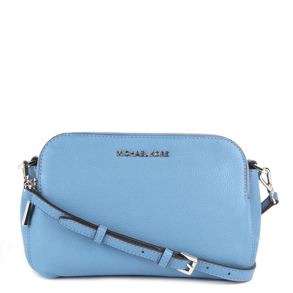 0fafabb31427 MICHAEL by Michael Kors Bedford Sky Medium Double Zip Cross Body Bag ...