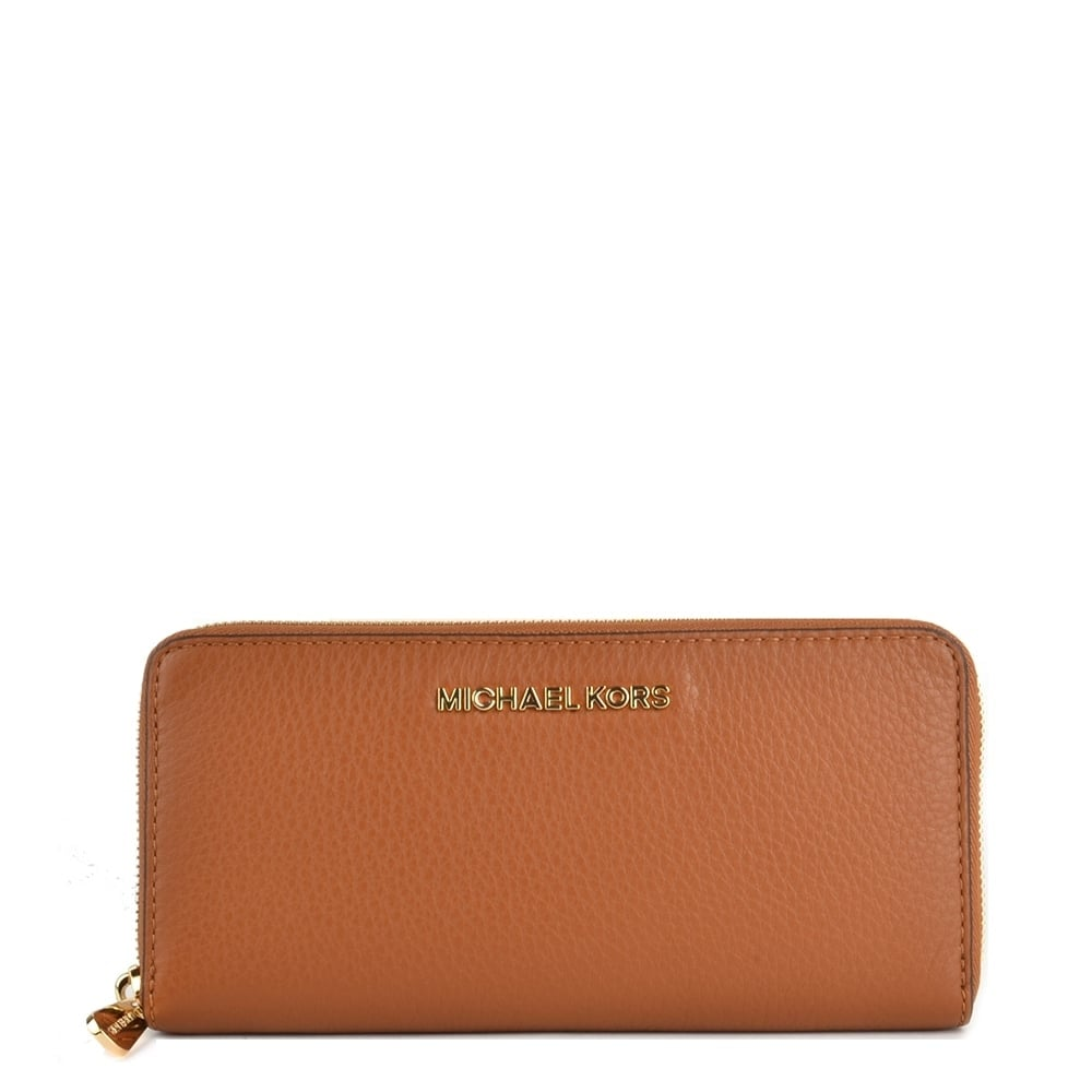 b799adeefc3e07 ... Michael Kors Bedford Continental Wallet Bedford Continental Soft Venice  Zip Purse In Tan Bedford Tan Leather Continental Wallet ...