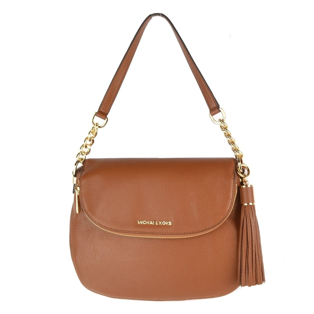fa363aad5c5d MICHAEL by Michael Kors Bedford Tan Tassel Convertible Shoulder Bag