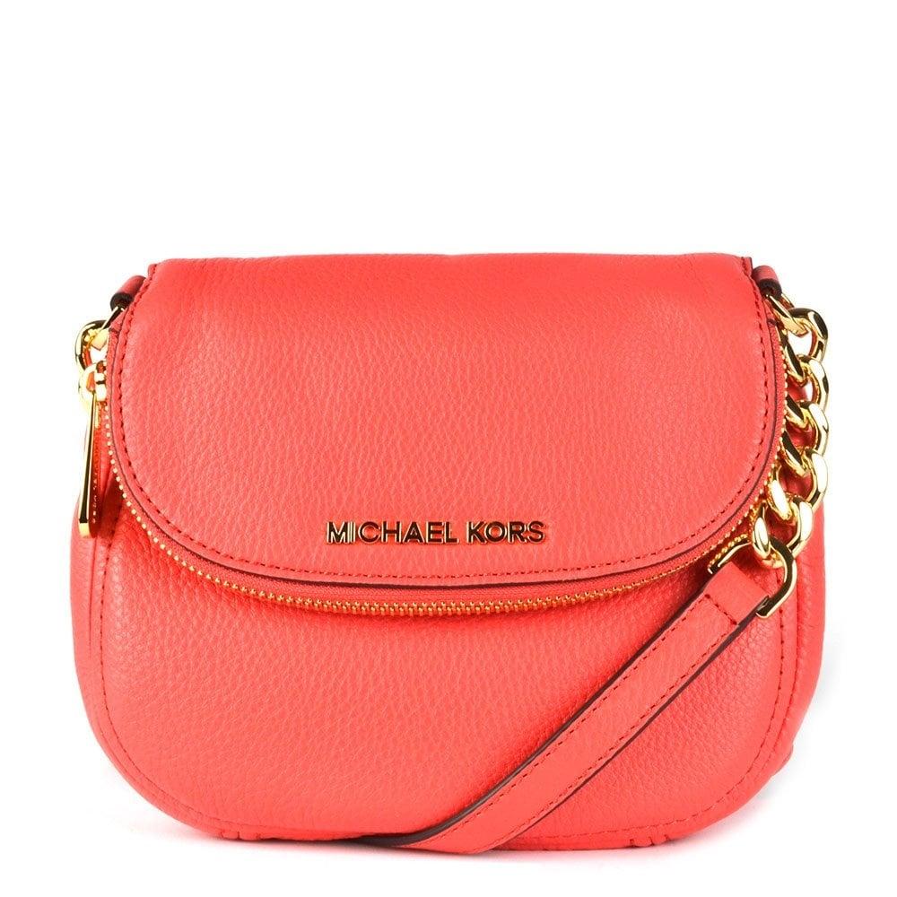 0353ba385d38 ... bag b21e2 0818d wholesale michael by michael kors bedford watermelon leather  flap crossbody d43a4 376c0 ...