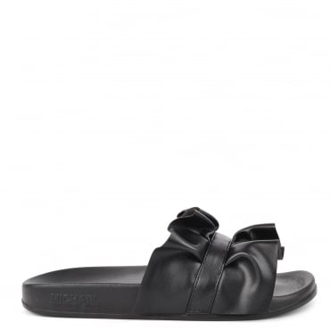Bella Black Ruffle Slider