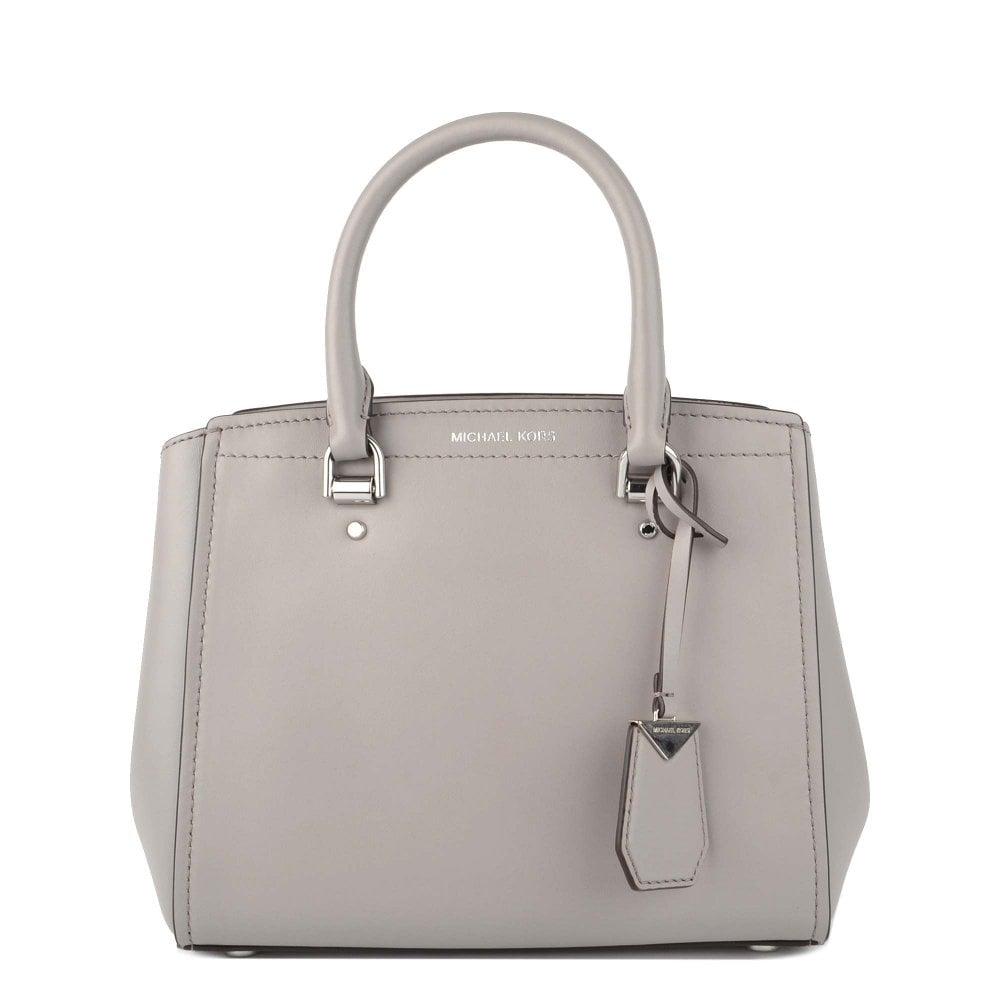 1d4b0ff26c97 MICHAEL by Michael Kors Benning Pearl Grey Medium Leather Messenger