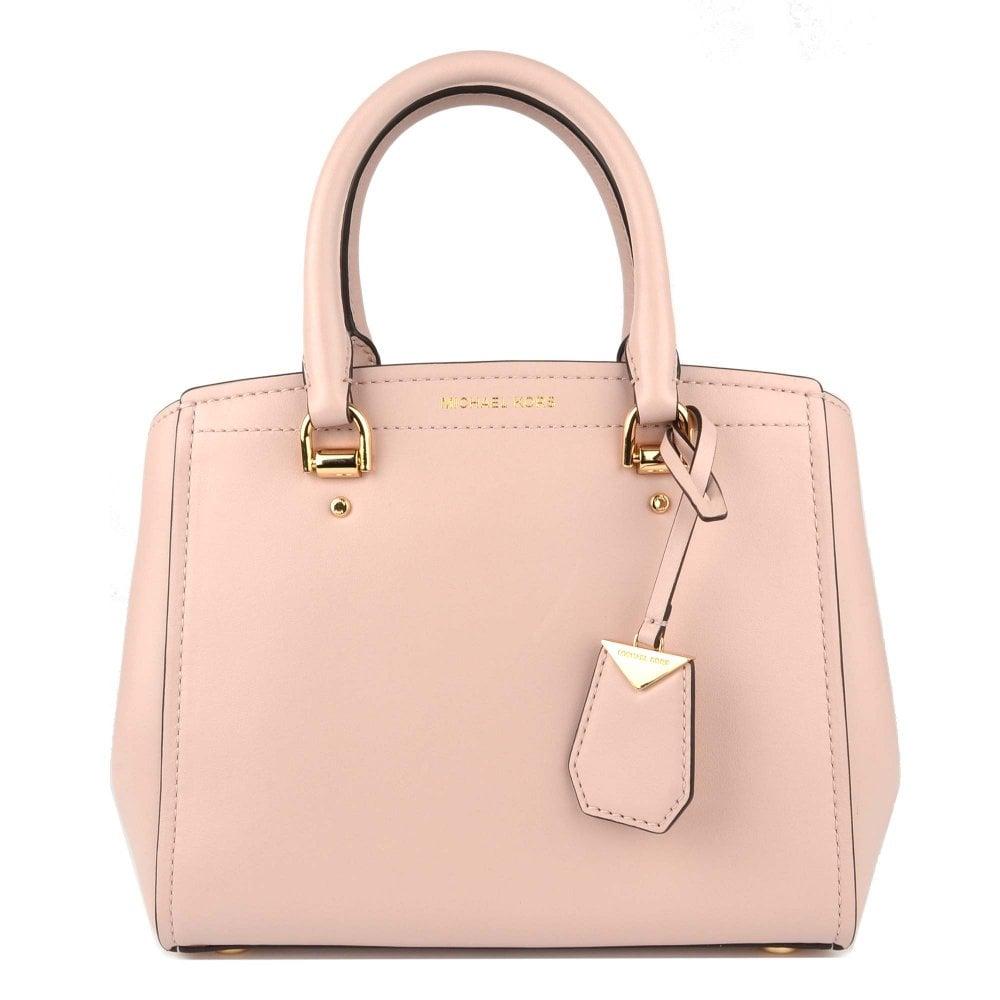 959cf3ea011e MICHAEL by Michael Kors Benning Soft Pink Medium Leather Messenger Bag