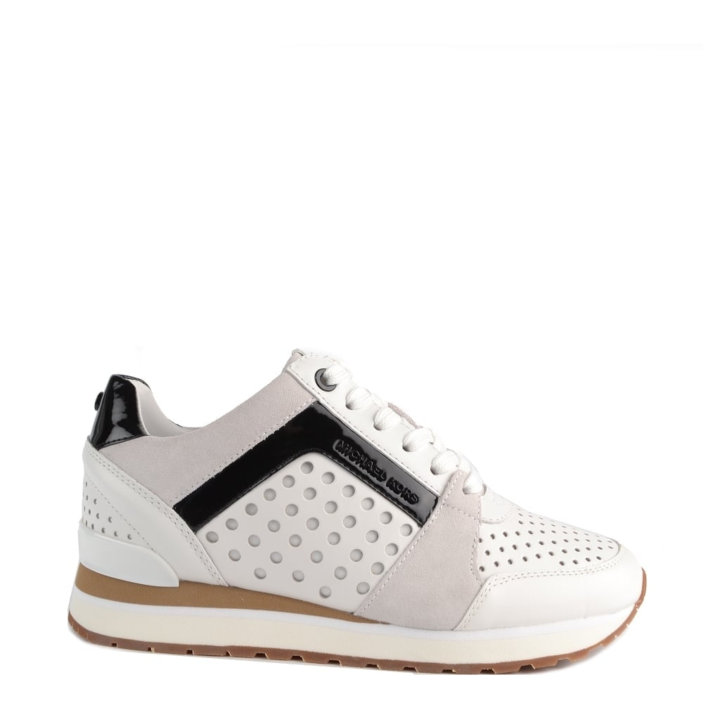 d61e9d73639 MICHAEL by Michael Kors Billie Optic White Perforated Trainer