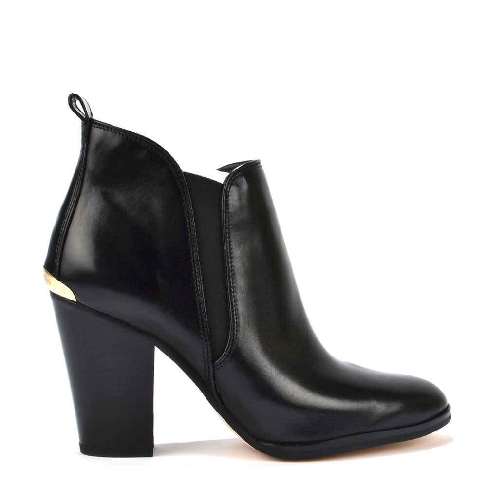 8d421741bbe0 MICHAEL by Michael Kors Brandy Black Leather Ankle Boot