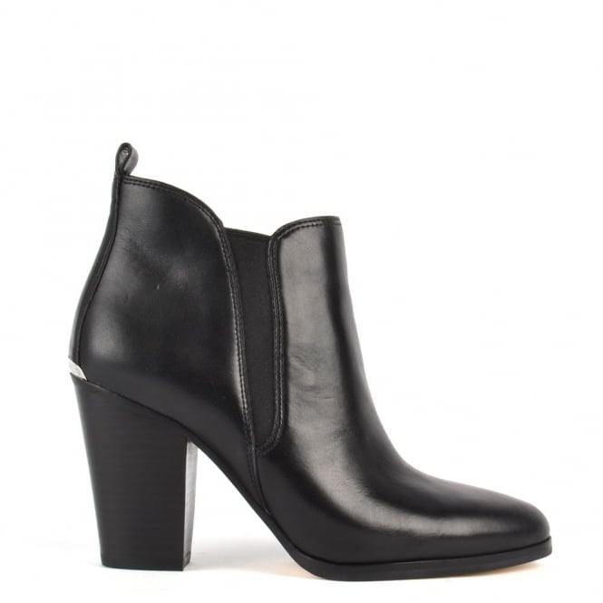 MICHAEL by Michael Kors Brandy Black Leather Ankle Boot