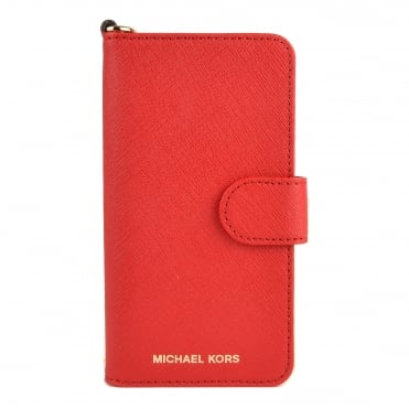 Bright Red Leather iPhone 7 Phone Case