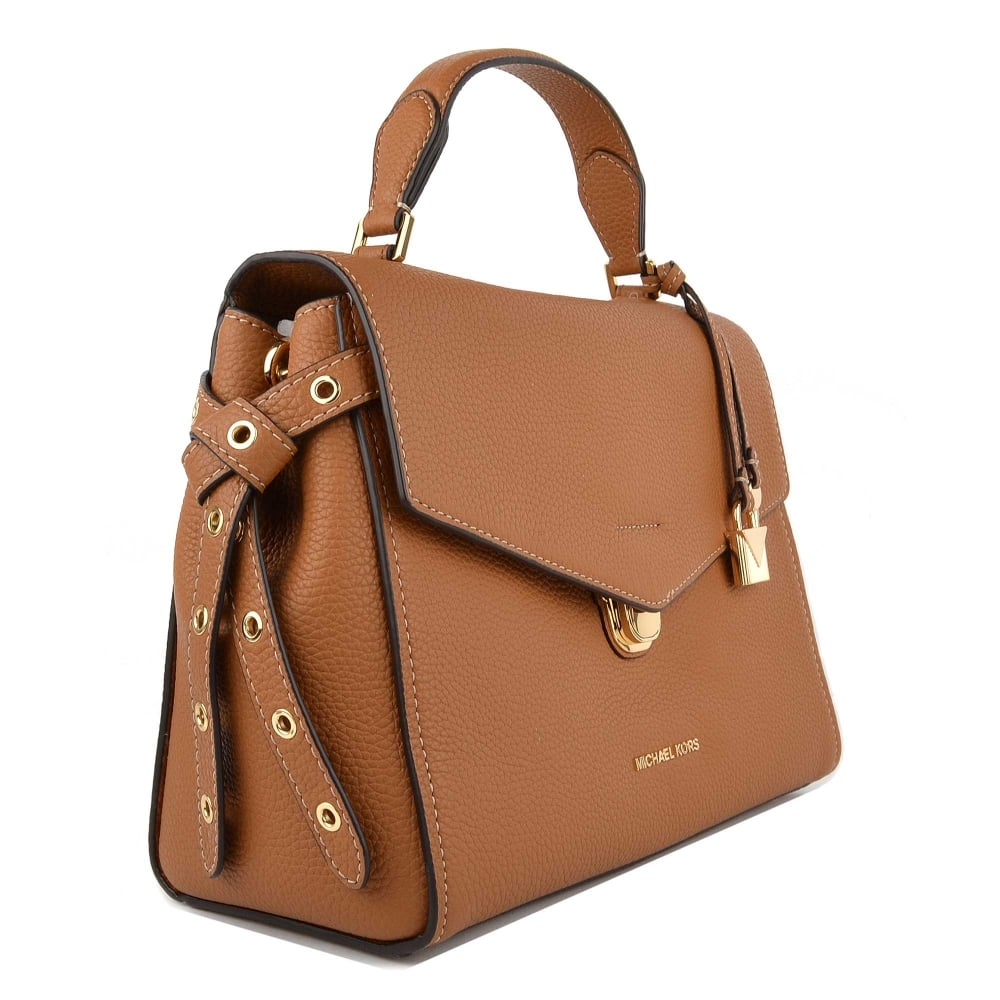 6df90706833291 MICHAEL MICHAEL KORS Bristol Acorn Leather Medium Satchel