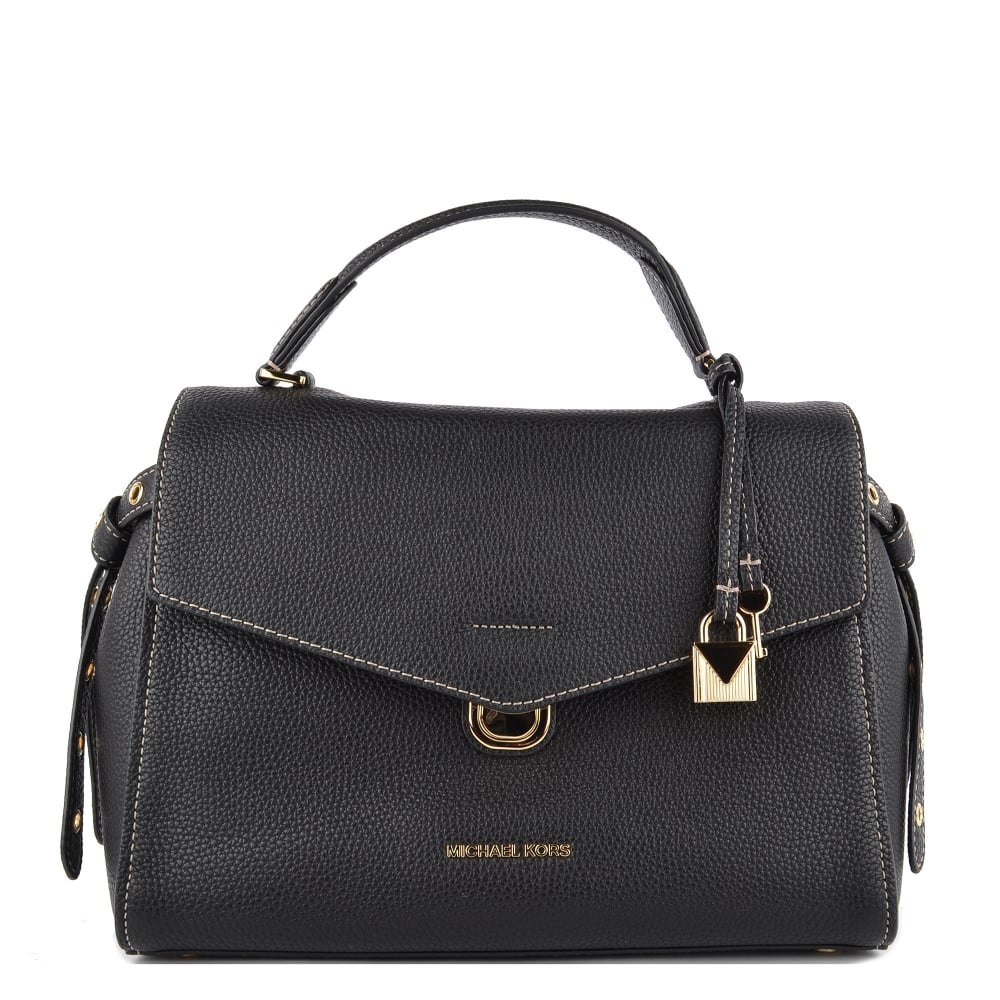 1e91dfe48f63 MICHAEL by Michael Kors Bristol Black Leather Medium Satchel